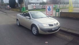 06 PLATE RENAULT MEGANE 1.6 CONVERTIBLE 1 LADY OWNER 77000 MILES FULL SERVICE HISTORY