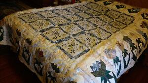 Quilt, Bedspread, Royal Double Dutch Tulips