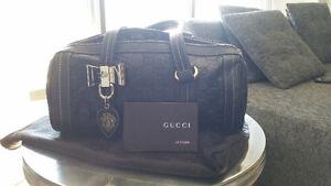 Gucci Small Boston Duchessa Leather Purse Bag