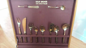 Solid Bronze Utensil Set - Made in Thailand