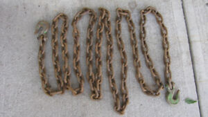 """16.5 Feet of 2"""" by 1.25""""  with 3/8""""  diameter chain links"""