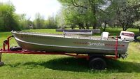 14 foot aluminum boat with 25 hp