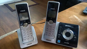 2 Vtech cordless phones with answering machine