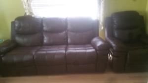 3 pc recline sofa and Italian dinning $750.00