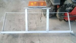 Aluminium Back rack with SWS warning lamp
