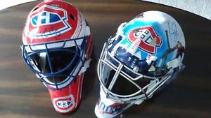 Montreal Canadiens autographed helmets