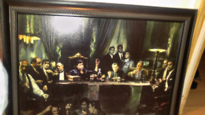 Fallen last supper canvas painting