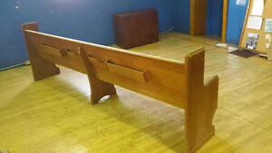Mid 1900's Wooden Church Pews