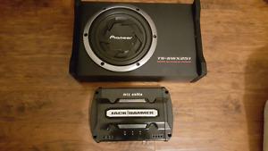 Sub amp and deck car audio