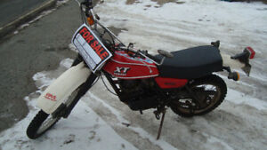1980 xt250 street legal on off road motorcycle near mint