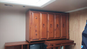 Bedroom Set-Single with desk, chair and chest of drawers