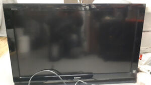 sony tv flat screen 45 in with wall mount remote
