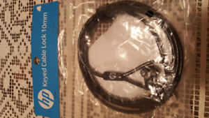 Hp keyed cable lock 10mm