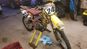 13 rmz450 trade plus cash for newer mountain sled