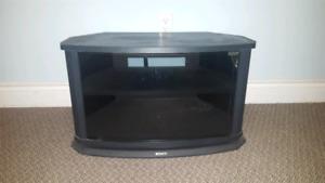 Corner swivel TV stand