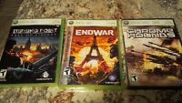 Xbox 360 Assorted Games - Turning Point, End War, Chrome Hounds