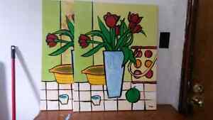 2 CANVASES FOR 15$ OR IF YOU LIKE THE PAINTINGS.... London Ontario image 1