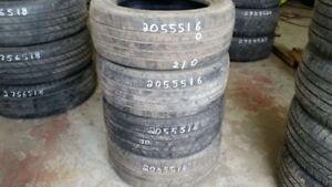 Set of 4 Michelin Defender 205/55R16 tires (50% tread life)