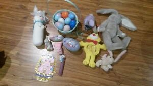 Bundle Of Easter Decorations And Eggs