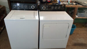 KitchenAid top load washer and matching dryer