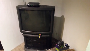 Sony TV and Cabinet