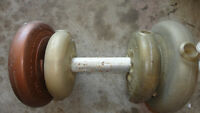 GOOD CONDITION DUMMBELL WITH 25 BL DUMBELLS