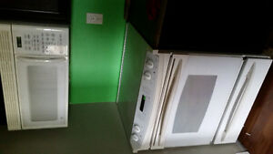 Frig smooth top rand and over range microwave