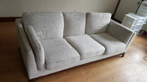 "Beautiful ""Fresh White"" Article brand sofa and chair set"