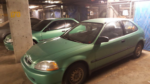 Two Midori Green Civic hatch for $2000 firm