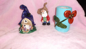 Handmade Clay Fairy House and Gnome London Ontario image 4