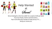 Part Timer Wanted at Sweet! Boutique in Quispamsis