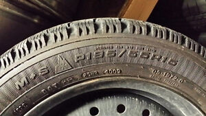 195/55R15 Goodyear Nordic 4 Winter tires(Tires+Rims)