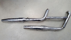 SYSTEME D'EXHAUST HARLEY-DAVIDSON SOFTAIL FAT BOY 1990-1994 OEM