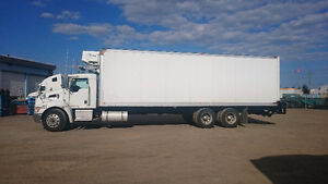 Reefer straight truck for sale with work