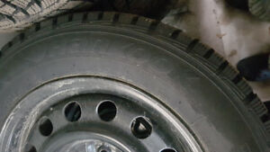 Tires on Rims - Removed from Hyundai Elantra