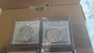 1957 Canadian Coins Mint Set - Graded ICCS PL-66 and MS-65 GEM Edmonton Edmonton Area image 5