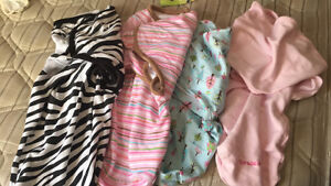 Swaddles, clothing for girl, seat cover
