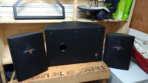 JBL Professional Control SB-2 Subwoofer and 2 Speakers