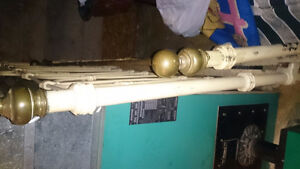 antique cast iron and brass dbl.bed St. John's Newfoundland image 2