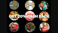 20% cash back on your shopping