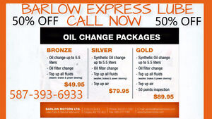 OIL CHANGE SPRING BLOWOUT!!