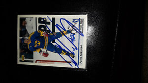Autographed Peter Forsberg card