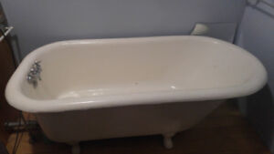 Real cast iron claw tub