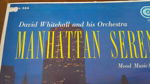 LP: Manhattan Serenade David Whitehall & His Orchestra Kitchener / Waterloo Kitchener Area image 2