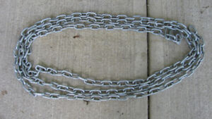 """2 2 Feet of 1 1/4"""" by 3/4"""" Chain of 3/16"""" Diameter Links"""