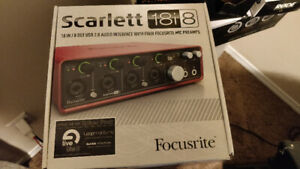 FOCUSRITE SCARLETT 18I8 MK2 18 IN 8 OUT USB AUDIO INTERFACE