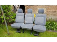 VW transporter quick release seats x3