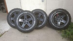 2007-2018 Jeep Wrangler rims and tires
