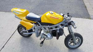 Super x7 pocket bike 110cc 4 stroke 4 speed semi-automatic