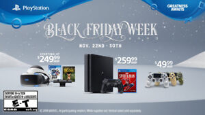 Playstation Black Friday Deals - 1TB PS4 Slim for $259.99 !!
